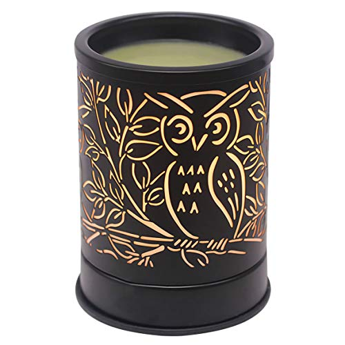 Singeek Wax Melts Warmer Metal Plug-in Scented Candle Warmer Fragrance Oil Heater Lamp for Spa Yoga Meditation Home Office Decor (Owl)
