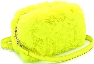 Hot Trendy Neon Color Ultra Smooth Soft Faux-Fur Small Medium Cute Crossbody Fluffy Square Camera Bag