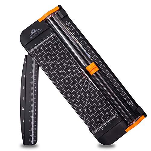 Taglierina A3 A4 30cm Titanium Scrapbooking Righello Multi Funzione e Sicurezza Automatica ghigliottina per coupon Craft etichetta di carta o foto nel Momento del Taglio Nera
