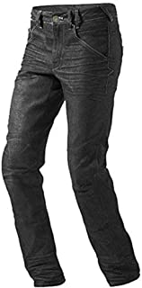 43 EU, Noir Gris JET Bottes Chaussures Moto Homme D/écontract/é Imperm/éable Armure Denim Cuir