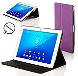 Forefront Hülles Hülle für Sony Xperia Z4 Tablet 10.1 SGP771 Schutzülle Hülle Cover und Ständer - Dünn Leicht, R&um-Geräteschutz und Auto Schlaf Wach Funktion + Stift - Lila