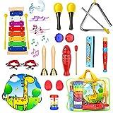 Paochocky 23Pcs Instrumentos Musicales Juguetes Musicales percusión Instrumentos para...