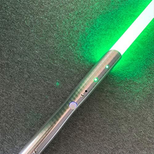JLKJBH Soundeffekt Schwert Metall Laser Schwert Kinderspielzeug Schwert GlüHender Sound (Silberner Griff)