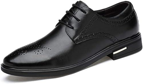 Dundun-chaussures 2018 Chaussures Oxford pour Hommes d'affaires, d'affaires, Décontracté Simple Classic Pointed Chaussures Formelles (Couleur   Noir, Taille   45 EU)  magasin en ligne de sortie