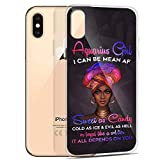 Compatible for iPhone XR Case Aquarius Girl Bday Ideas Zodiac Sign Gifts Confident Black Woman Funny Sayings Anti-Scratch Covers