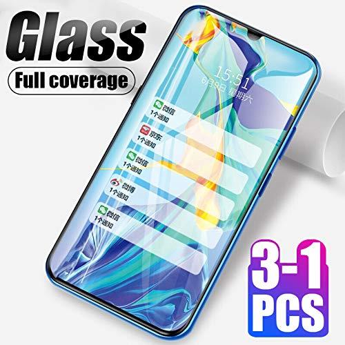 KDLLK Vidrio Templado, para Huawei P20 Pro P10 Lite Protector de Pantalla de Cubierta Completa, para Huawei Honor 9X Pro 8X Honor 9 10 Lite Glass