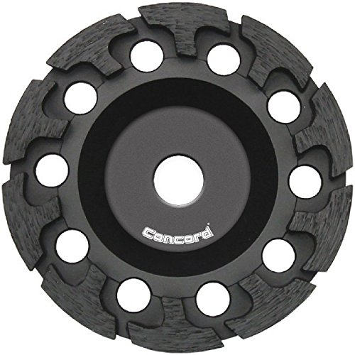 Concord Blades 7-Inch Diamond Cup Wheel, T-Turbo Segments, with 5/8'-11 Thread for Grinding Concrete, Fieldstone and other Masonry Surfaces (GCH070FHP)