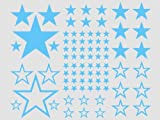 Wandbild Wandsticker 82 Sterne -babyblau56