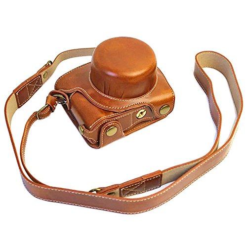 Mercs 高級合皮レザー ミラーレス一眼 カメラケース Nikon Nikon1 J5 専用 10-30mm レンズ 対応 セパレート...