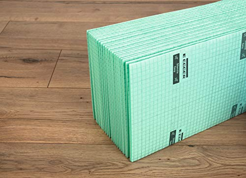 EGGER Laminat Unterlagsmatte Silenzio Easy 2mm Trittschalldämmung für Laminatboden 15m² Laminatunterlage