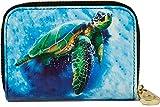 Fig Designs RFID Secure Armored Zipper Wallet - Sea Turtle, 4.5x3x1