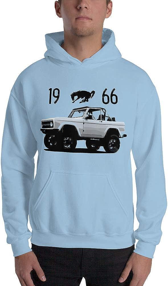 Retro 1966 Gris Ford Bronco Unisexe Sweat à capuche