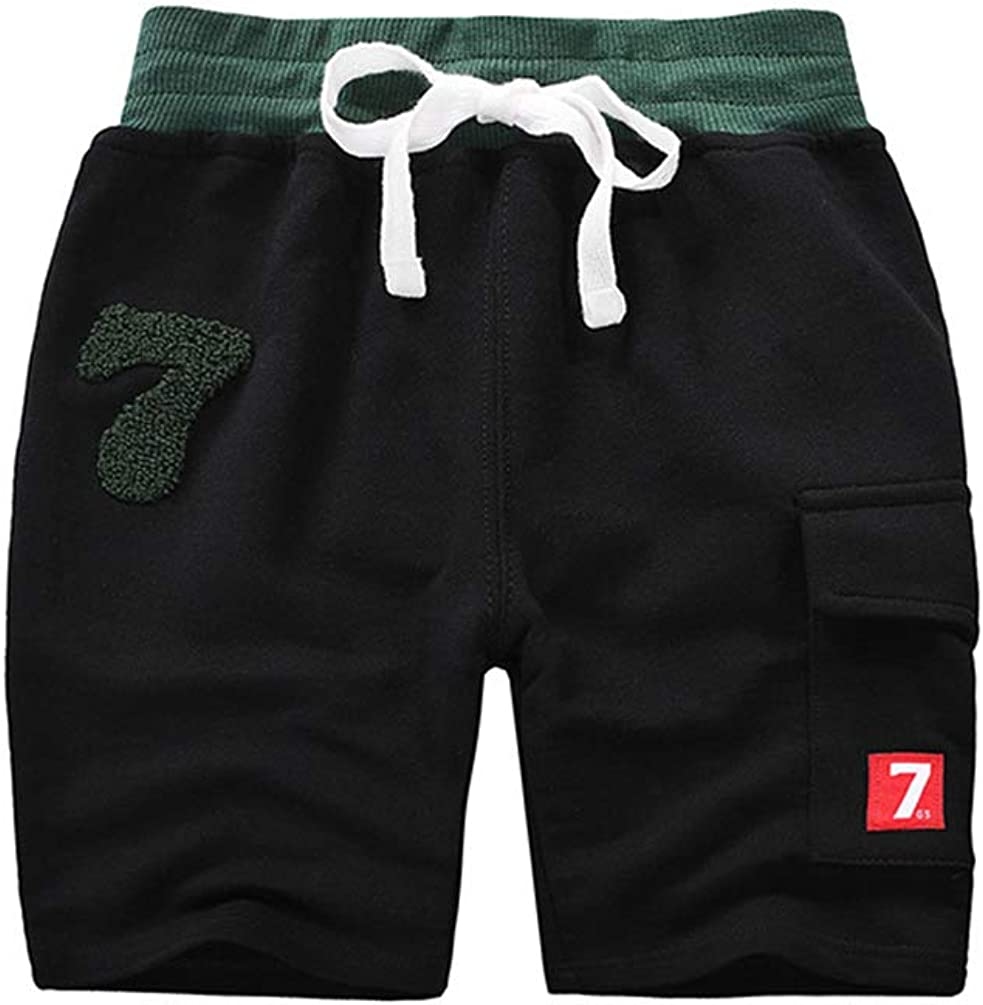 AMMENGBEI Boy's 3-Pack Summer Cotton Shorts 2-10 Years