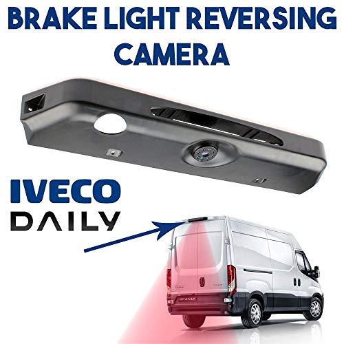 Transporter Van Lumière de Frein Caméra de Recul pour Fiat Daily 6 AB Bj.2015, HD Caméra de Voiture 628 x 586 Pixel 520TV Lines Vision Nocturne IR Grand Angle de 150-170 Degrés Imperméable