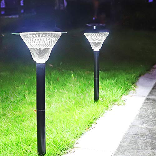 Solar Pathway Lights,Dusk to Dawn Outdoor Solar Powered 39 LED Walkway Path Lights, 3X Brightness 80Lumen Security Lights for Garden, Landscape, Path, Yard, Patio, Driveway-6000K (Cold White,2 Pack)