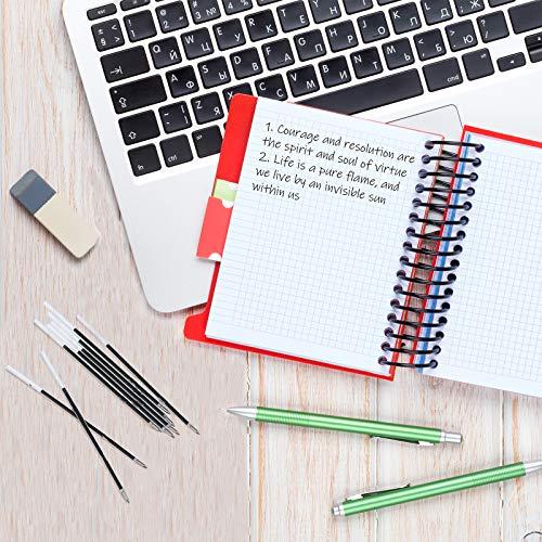 Sepamoon Retractable Pen Refills 0.7mm Ballpoint Pen Refills Replacement Gel Ink Refills Blue and Black Ink Refills for Retractable Pens, Office School Supplies (120) Photo #5