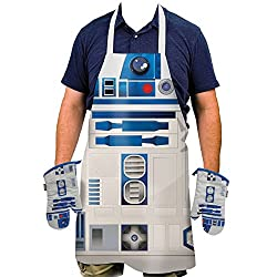 Star Wars R2-D2 Oven Mitts and Apron Set - Includes 2 Oven Gloves And Apron
