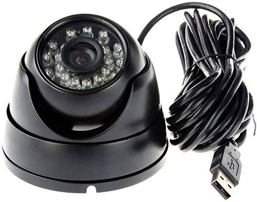 FosCadit Home Security Camera USB Port Dome Camera Vision CCTV DVR with Memory Card Slot Recording System