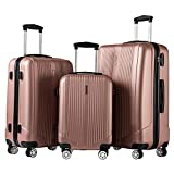 Luggage Set 3 Piece Set Suitcase set with TSA Lock Spinner Hard shell...