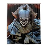 HUHAOSC Pennywise The Clown in It Bath Shower Curtain Waterproof Fabric Shower Curtains 60x72 Inch