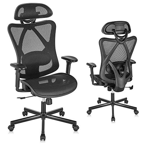 SUNNOW Ergonomic Office Chair, Mesh Computer Desk Chair with Adjustable Lumbar...