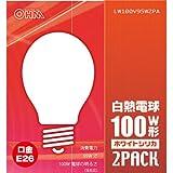 オーム 白熱電球 LW100V95W2PA 箱2個