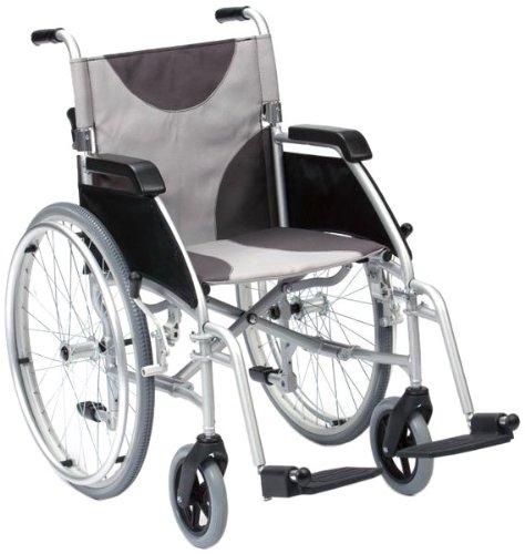Drive Medical LAWC007A Handrollstuhl, Aluminium-Leichtbauweise, 45,7 cm