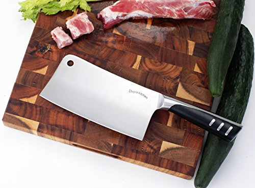 Utopia Kitchen 7 Inches Cleaver Knife Chopper Butcher Knife Stainless Steel for Home Kitchen and Restaurant