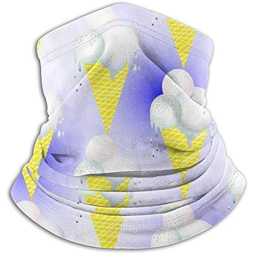 Linger In Blue Ice Cream Pattern Neck Gaiter Face Mask Bandana Seamless Headband Ski Riding Running