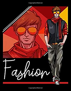 Fashion: Sketchbook Male Figure Template Version 1 / Front and Back Figure Poses / Fashion Design Books Sketchbooks Notebook / 114 Pages Coloring Book / 8.5