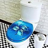 JHGF Assento de Sanita Assento de Sanita de golfinho com tampo de MDF de engrossar Mudo e Tampa de Sanita Ultra Resistente montada para Sanita em Formato de UOV
