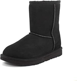 UGG Girls Classic II Sheepskin Boot, Black