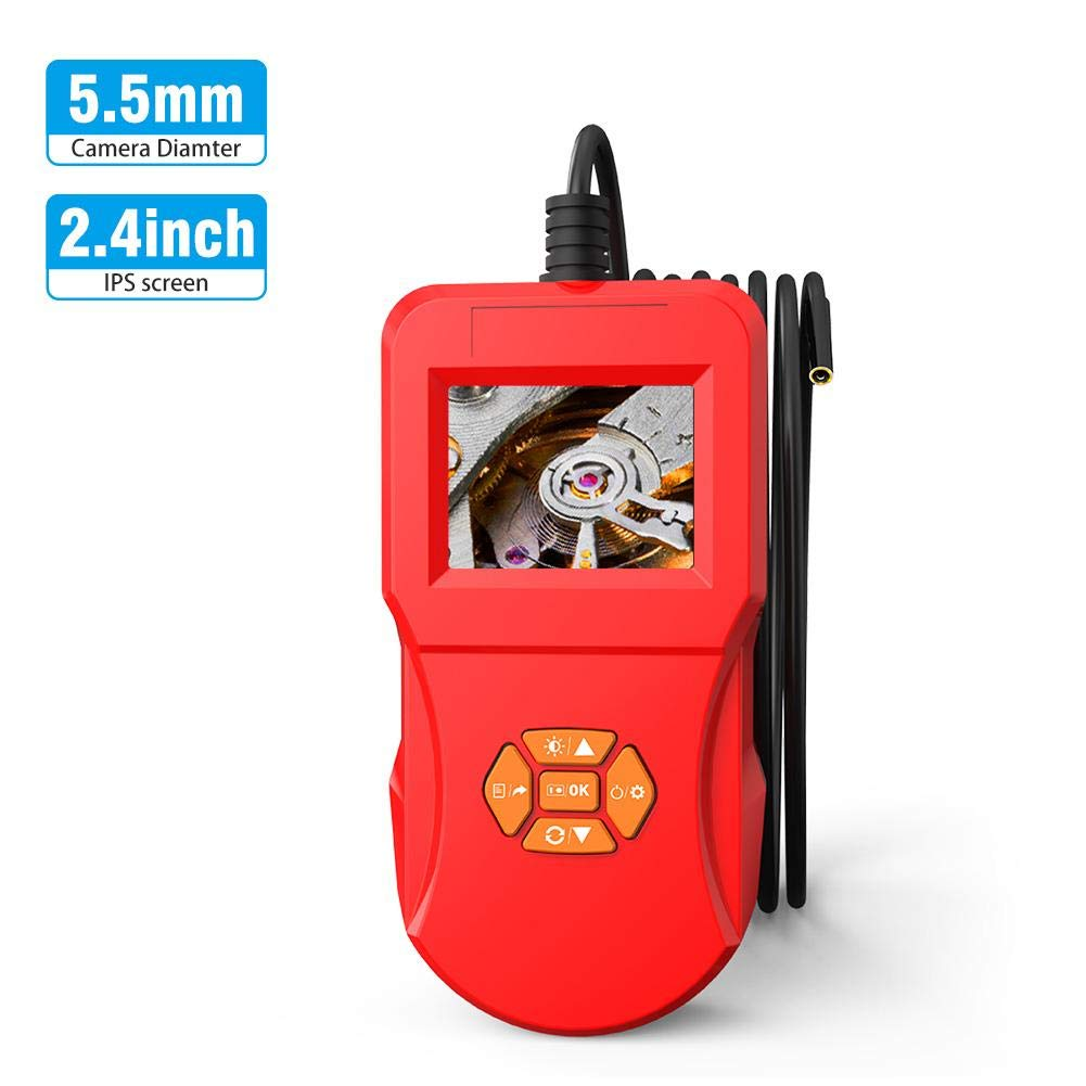 2.4 Inch HD Display Waterproof 5.5mm Lens Large-scale sale Borescopes Endoscope I Indianapolis Mall