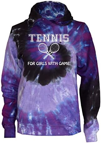 JANT girl Tennis Tie Dye T-Shirt Love It with Racquets Logo