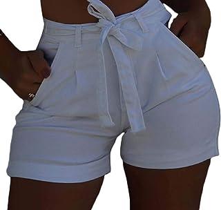 Women Jeans Shorts with Belt Summer High Waisted Pants Denim Shorts