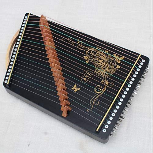 Mini Gu Zheng Guzheng Finger Trainer mit vollen Zusätzen/Guzheng-Code/Rucksack, Geeignet for Professional/Erwachsene/Anfänger/Kinder 21 Streicher, 55 * 34 cm (Color : B, Size : 55 * 34 cm)