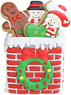 Holiday Christmas Cookie Molds - Set of 10-5Pcs Cookie Cutter and 5Pcs Matching Cookie Stencils, Include Snowman, Christmas boots, Gingerbread Man, Christmas Garland and Christmas Chimney