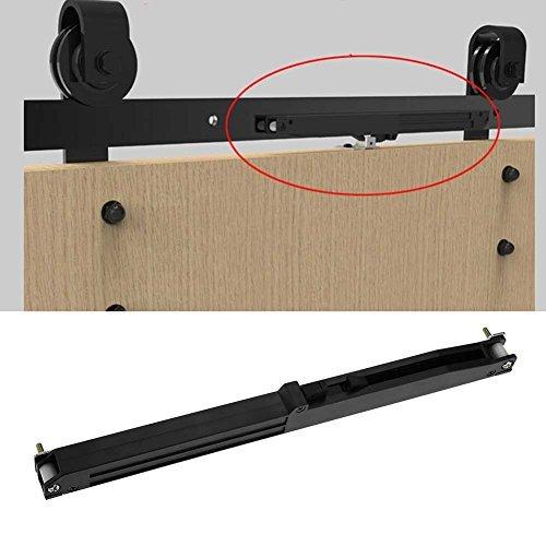 Puerta Corredera Amortiguador Cierre suave Correderas Mecanismo Muebles Remisión Accesorio Corredera Corredera Puerta de madera Hardware Juego de rieles con tornillos de fijación y soporte