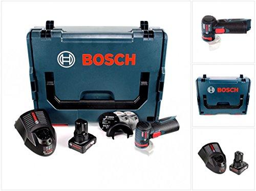 Bosch GWS 12V-76 - Amoladora angular con batería (12 V, 76 mm, en caja L-Boxx, incluye 1 batería de 6,0 Ah y cargador)