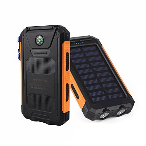 Battery Charger Cases Free Ship Waterproof Solar Power Bank 5000mah Portable Charger Travel Enternal Battery Case Power Bank For Cell Phone Battery Year-End Bargain Sale Phone Bags & Cases