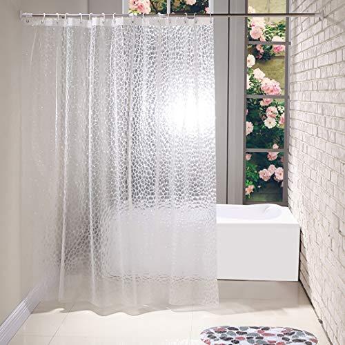 LUVODI 3D Duschvorhang Wasserwürfel Badvorhänge Wasserdicht Anti Schimmel 180 x 180cm PVC-frei Umweltfre&lich Waschbar