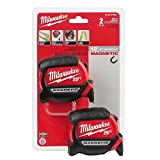 Milwaukee - 48-22-0125G - 25 ft. Magnetic Tape Measure - 2-Pack