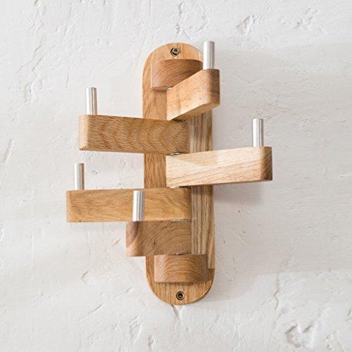 NYDZDM estilo simple dormitorio madera maciza roble giratorio percha percha percha percha percha percha/estante de abrigo/ganchos