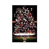 Poster mit FC Barcelona-Spielern, Leinwand-Kunst-Poster und