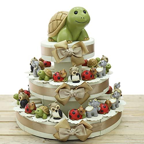 VialeMagico Torta Bomboniere Compleanno con Statuina Animali della Fortuna 35 Bomboniere (TR1101S)