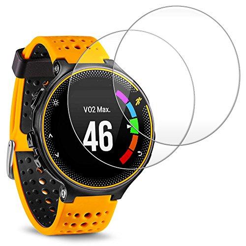 Reloj Inteligente Protector de Pantalla para Garmin Forerunner 235 225 Smart Watch,AFUNTA Vidrio Templado de Cine Anti-rasguños Alta definición Proteger