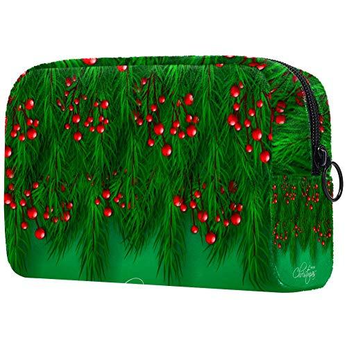 Bolsa de maquillaje personalizable, portátil, bolsa de aseo para mujer, bolso cosmético, organizador de viaje, fiesta de invierno