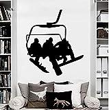 Stil Wandtattoos Snowboard Sport Winter Schnee Vinyl Aufkleber Schlafzimmer Sofa Hintergrund Kunst Dekor Wandbild TapetenCM 61x53cm