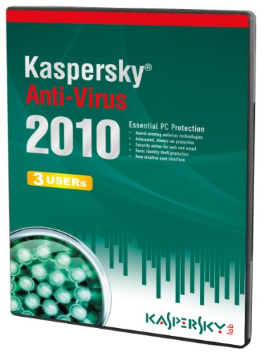 Kaspersky Anti-Virus 3 User, 1 Year License, 2010 (PC CD) [Import anglais]