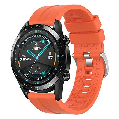 YASPARK Correa para Huawei Watch GT 46mm/GT 2 46mm,22mm Silicona Banda Deportiva Pulsera para Huawei Watch GT Active/Watch 2 Pro/Galaxy Watch 46mm R800/Gear S3/Gear2 R380/Galaxy Watch 3 45mm